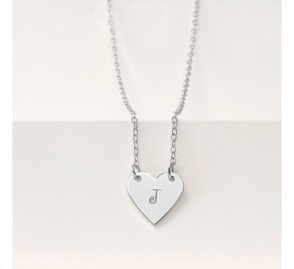 Personal Impressions, Heart, 13x14mm, Silver Plated Necklace Kit example