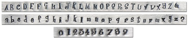 Jeanie Upper, Lower Case & Number - ImpressArt Kit