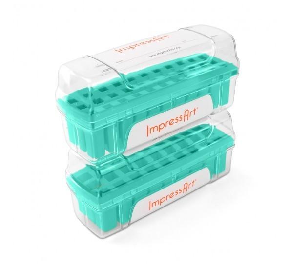 ImpressArt Storage Box Case for 3mm Alphabet Letter Sets - Teal 3