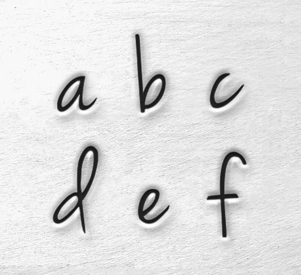 ImpressArt Melody 3mm Alphabet Lower Case Letter Metal Stamping Set text