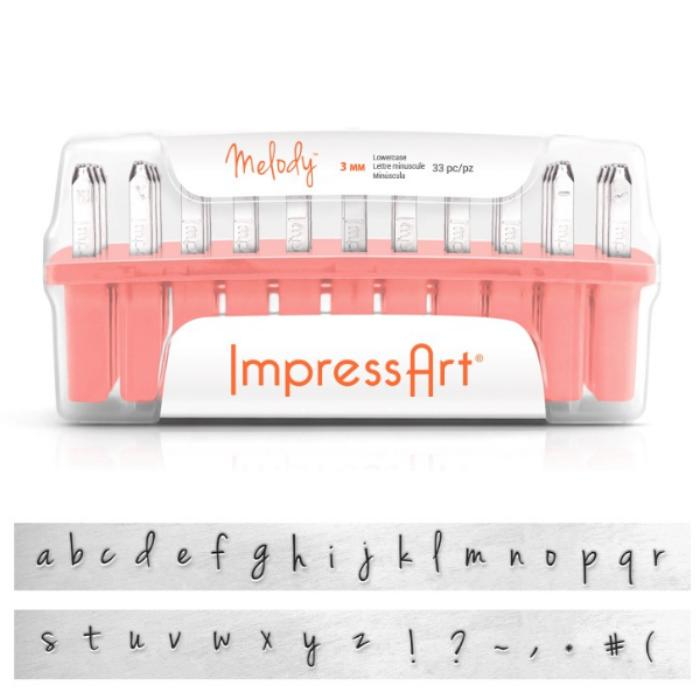 impressart melody 3mm alphabet lower case letter metal With metal stamping letter sizes