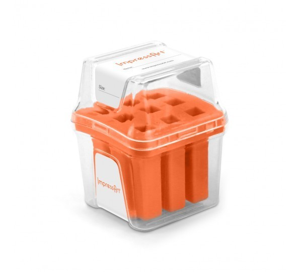 ImpressArt Storage Box Case for 3mm Number Sets - Orange 1