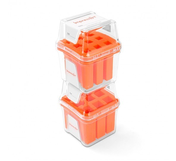 ImpressArt Storage Box Case for 3mm Number Sets - Orange 3