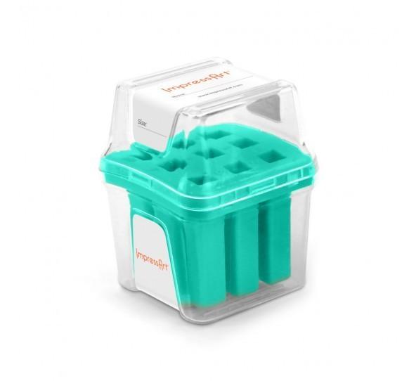 ImpressArt Storage Box Case for 4mm Number Sets - Teal 1