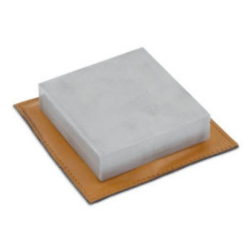 example of use, sandbag on stainless steel bench block