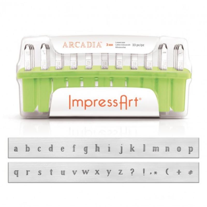 ImpressArt Arcadia 3mm Alphabet Lower Case Letter Metal Stamping Set