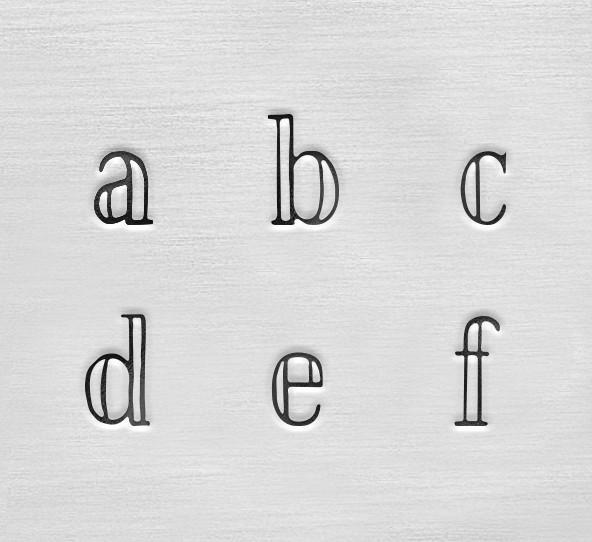 ImpressArt Arcadia 3mm Alphabet Lower Case Letter Metal Stamping Set Detail