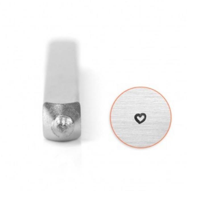 ImpressArt Heart Outline 2.5mm Metal Stamping Design Punches