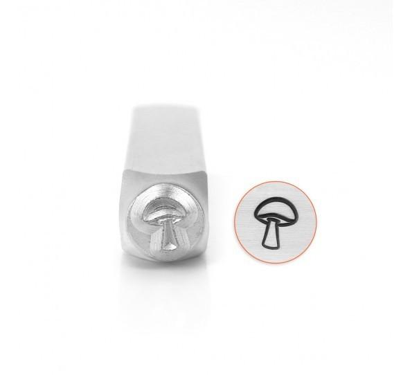 ImpressArt, Mushroom 6mm Metal Stamping Design Punches UK