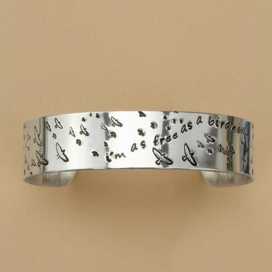ImpressArt Birds Collection 6mm Metal Stamping Design Punches example