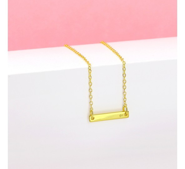 Personal Impressions, Small Rectangle, 3x20mm, Gold Plated Necklace Kit example
