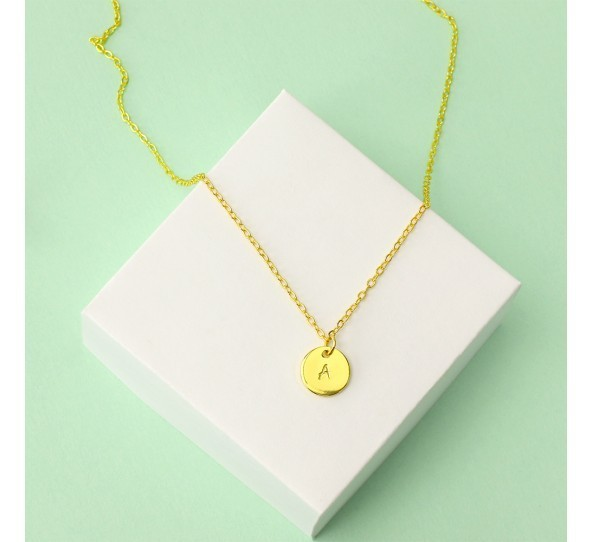 Personal Impressions, Small Circle, 10mm, Gold Plated Necklace Kit example