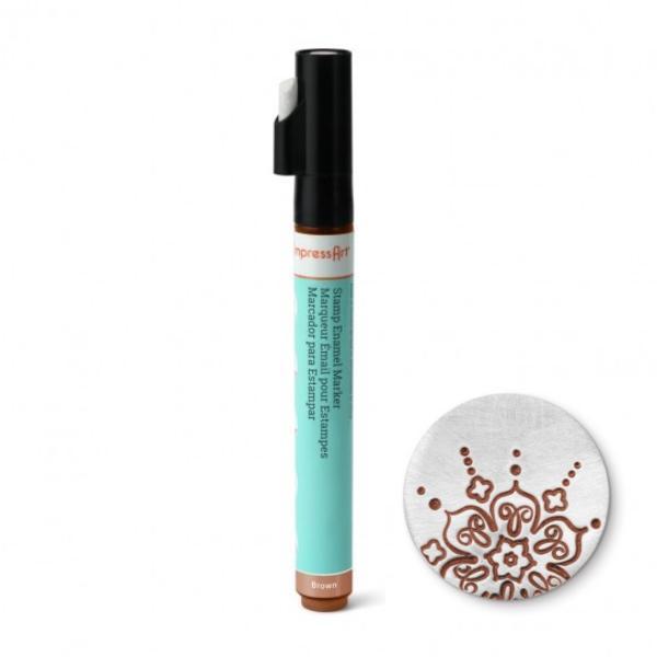 Stamp Enamel Marker Pen, 1.1oz, 32.5ml ImpressArt Stamping Supplies, Brown UK 2