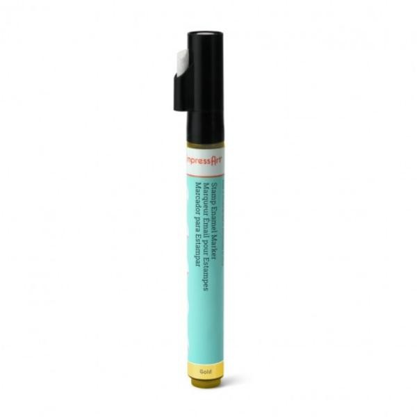 Stamp Enamel Marker Pen, 1.1oz, 32.5ml ImpressArt Stamping Supplies, Gold UK 1