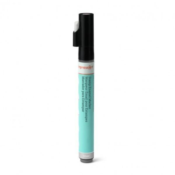 Stamp Enamel Marker Pen, 1.1oz, 32.5ml ImpressArt Stamping Supplies, Silver UK 1