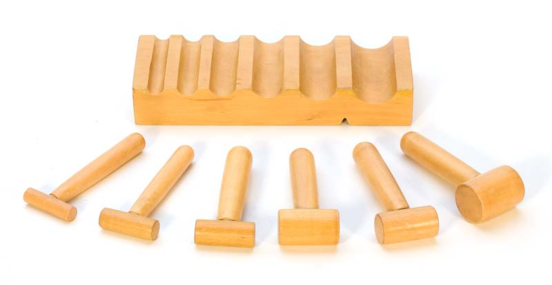 U-Channel Hardwood Block and Shaping Hammers Set - Jewellery Tools