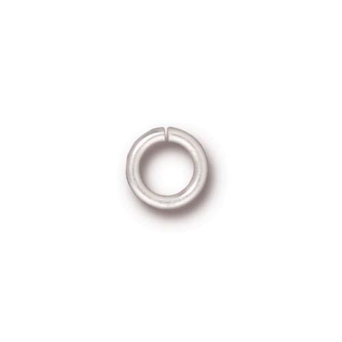 TierraCast Findings - Jumpring Round 7.5mm (5.2mm id) 16ga Silver Plated x10