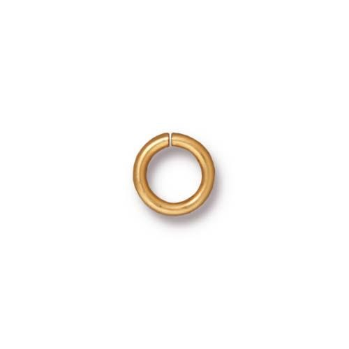 TierraCast Findings - Jumpring Round 7.5mm (5.2mm id) 16ga Gold Plated x10