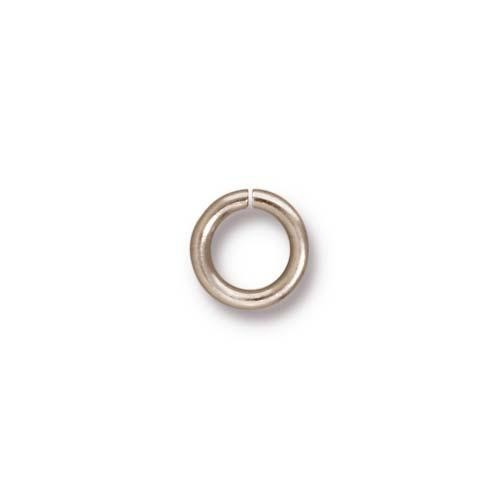 TierraCast Findings - Jumpring Round 7.5mm (5.2mm id) 16ga Rhodium Plated x10