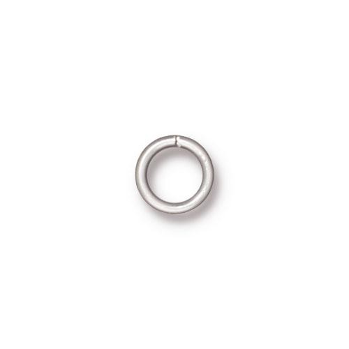 TierraCast Findings - Jumpring Round 7.2mm (5.5mm id) 19ga Silver Plated x10