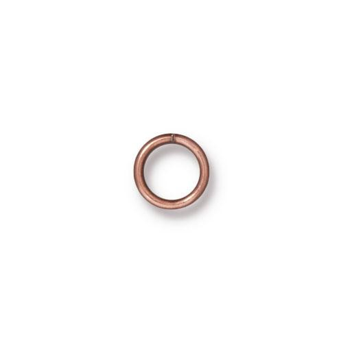 TierraCast Findings - Jumpring Round 7.2mm (5.5mm id) 19ga Copper Plated x10