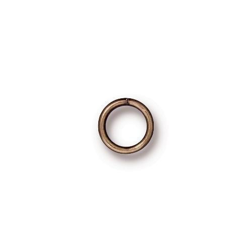 TierraCast Findings - Jumpring Round 7.2mm (5.5mm id) 19ga Brass Oxide x10