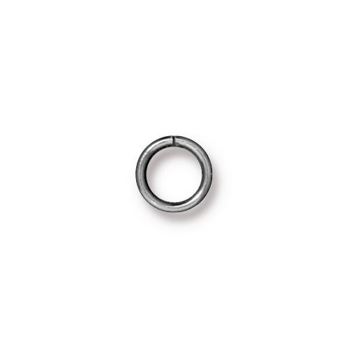 TierraCast Findings - Jumpring Round 7.2mm (5.5mm id) 19ga Rhodium Plated x10