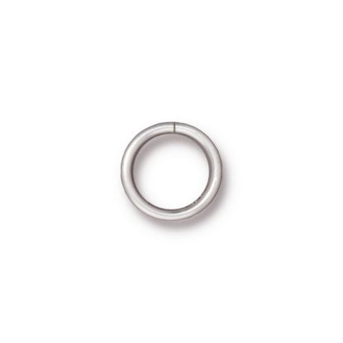 TierraCast Findings - Jumpring Round 10mm (7.8mm id) 18ga Silver Plated x10