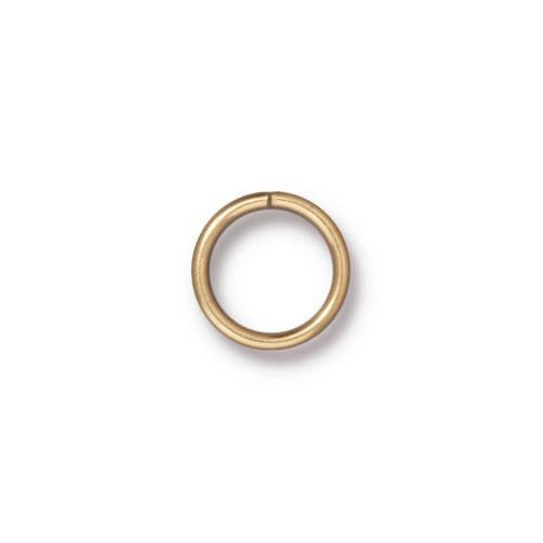 TierraCast Findings - Jumpring Round 10mm (7.8mm id) 18ga Gold Plated x10