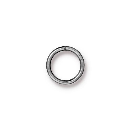 TierraCast Findings - Jumpring Round 10mm (7.8mm id) 18ga Rhodium Plated x10