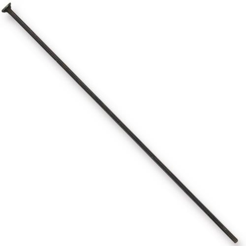 TierraCast Findings, Headpins 2.15 inch, 54.5mm 21ga Black x10