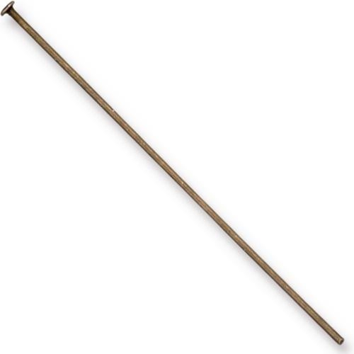 TierraCast Findings, Headpins 2.15 inch, 54.5mm 21ga Brass Oxide x10