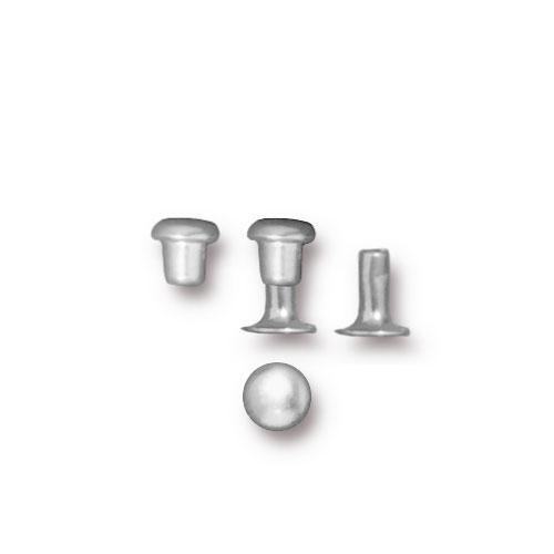 Tierracast 4mm Compression Rivet Silver Plated x10 pairs