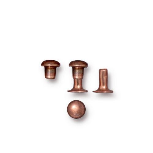 Tierracast 4mm Compression Rivet Antiqued Copper Plated x10 pairs