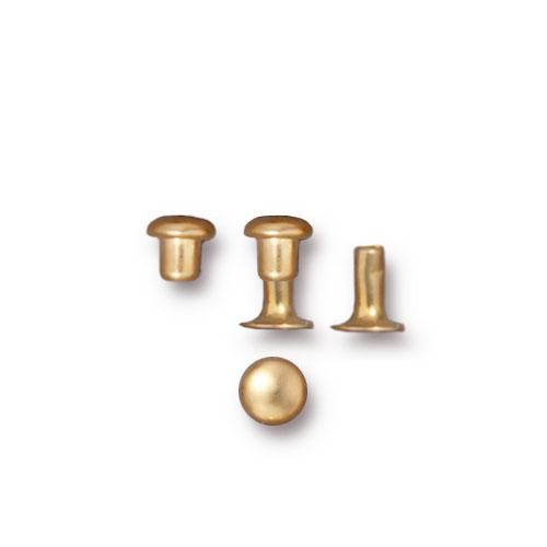 Tierracast 4mm Compression Rivet Gold Plated x10 pairs