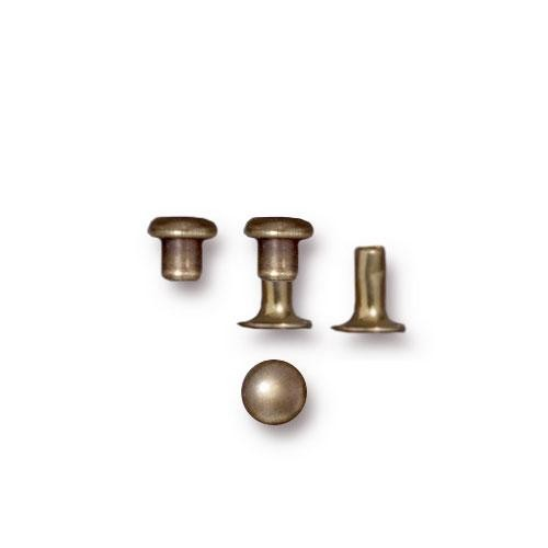 Tierracast 4mm Compression Rivet Brass Oxide x5 pairs