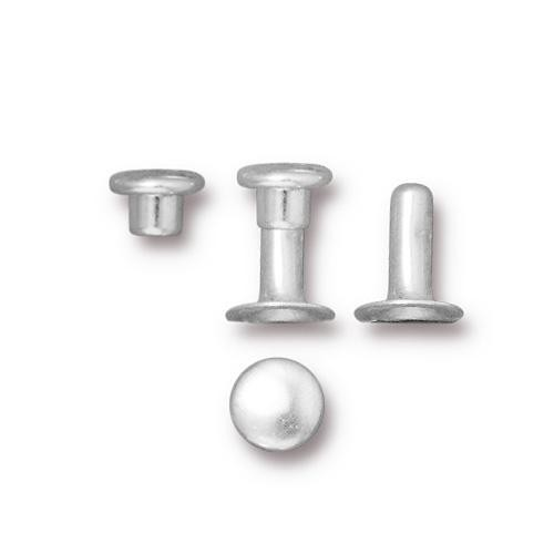 Tierracast 6mm Compression Rivet Set Silver Plated x10 pairs