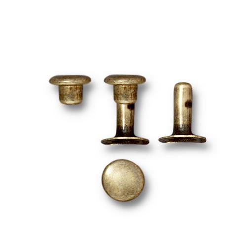 Tierracast 6mm Compression Rivet Set Brass Oxide x10 pairs
