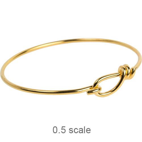 TierraCast Wire Bracelet (wrapped Loop) 22kt Gold Plated x1