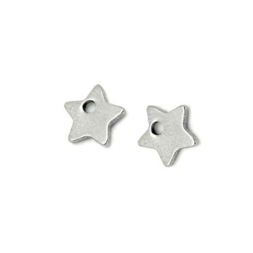 Stainless Steel Star 5.5mm 20g Blank Charms x2