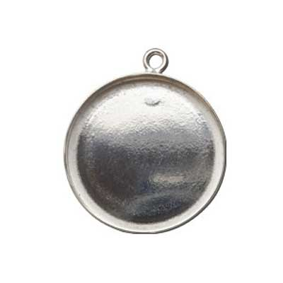 Sterling Silver 18mm Round Bezel Setting x1