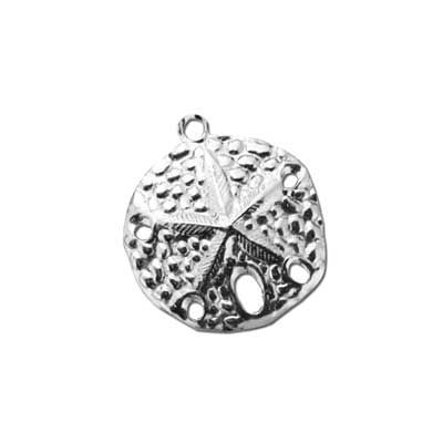 Sterling Silver Charms - 18.7x20.4mm Sand Dollar Stamping x1