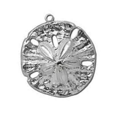 Sterling Silver Pendant - 33.3x37mm Sand Dollar Stamping x1