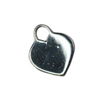 Sterling Silver Heart Tag 15x13mm 19g Stamping Blank Charm x1