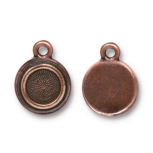 Tierracast Stepped Bezel Drops Glue-In for SS34 - 12mm, Antique Copper Plated