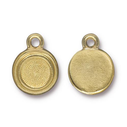 Tierracast Stepped Bezel Drops Glue-In for SS34 - 12mm, Gold Plated