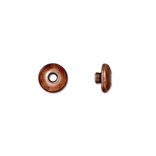 TierraCast BeadAligners™ 6mm Classic Antique Copper Plated Bead Aligner x1