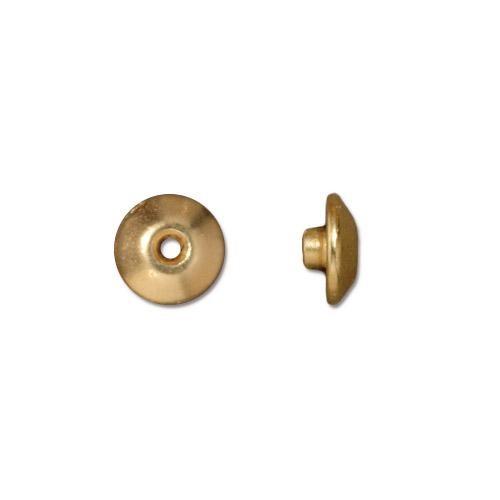 TierraCast BeadAligners™ 8mm Classic 22kt Gold Plated Bead Aligner x1