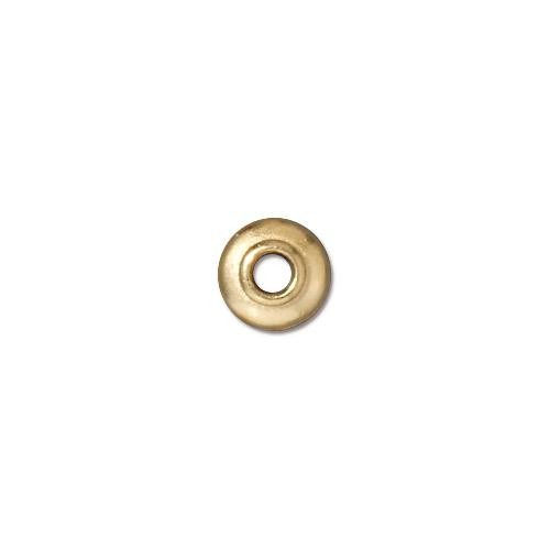 TierraCast Pewter 22kt Gold Plated 7mm Classic Bead Cap, Large Hole x1