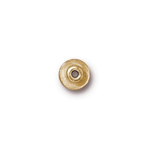 TierraCast BeadAligners™ 7mm Classic (4mm Peg) 22kt Gold Plated Bead Aligner x1
